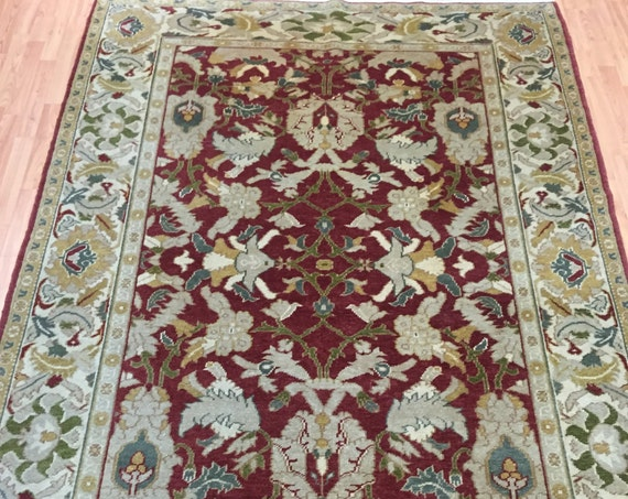 6' x 9' Pakistani Peshawar Oriental Rug - Vegetable Dye - Hand Made - 100% Wool