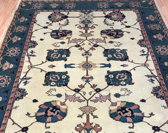 7' x 10' Pakistani Peshawar Oriental Rug - Hand Made - Veg Dye - 100% Wool