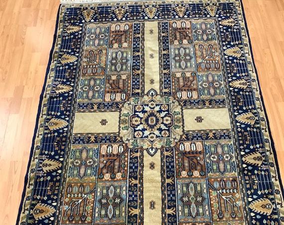"4'2"" x 6'8"" Himalayan Oriental Rug - Very Fine - Hand Made - 100% Wool"