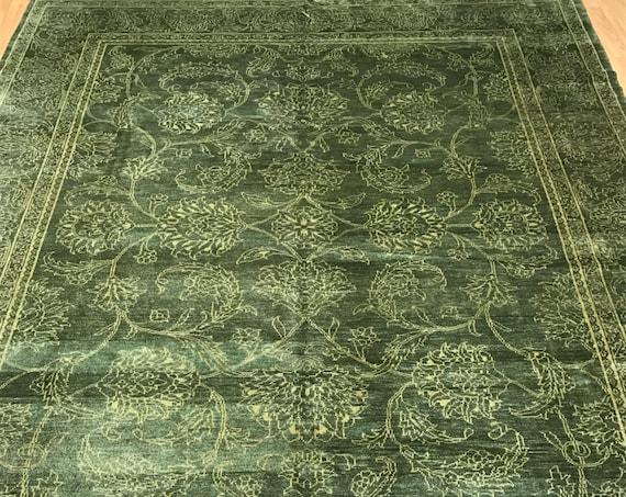 8' x 10' Pakistani Peshawar Oriental Rug - Hand Made - Veg Dye - 100% Wool