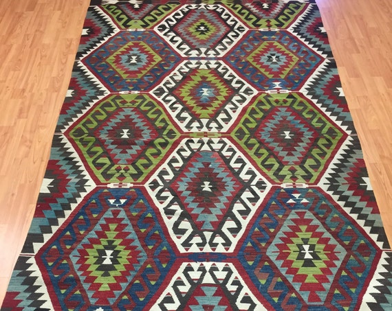 5' x 10' Antique Turkish Kilim Oriental Rug - 1940s - Hand Made - 100% Wool