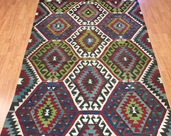 5' x 10' Antique Turkish Kilim Oriental Rug - 1940s - Hand Made - 100% Wool