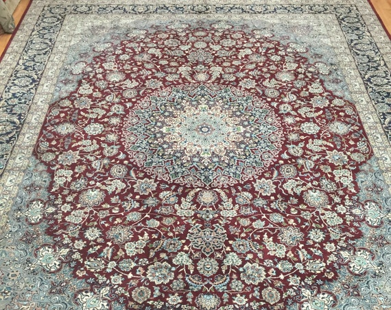9' x 12' Pakistani Persian Tabriz Design Oriental Rug - Very Fine - Hand Made - 100% Wool
