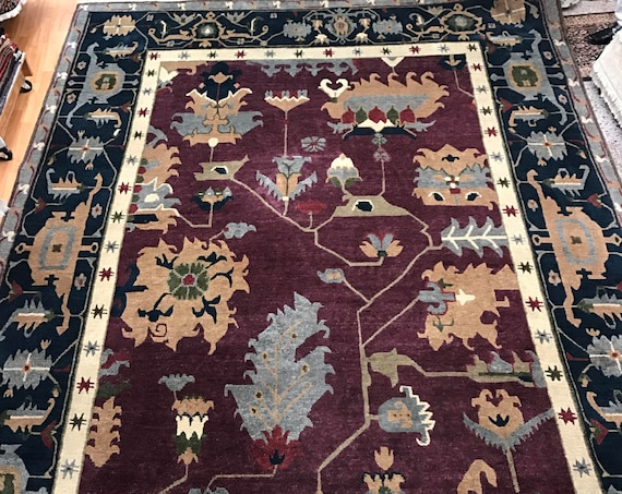 "10' x 14'4"" Nepal Tofangiyan Collection Oriental Rug - Hand Made - 100% Wool"