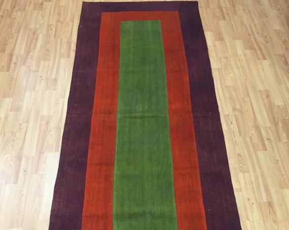 """3' x 8'2"""" Turkish Patchwork Kilim Runner Oriental Rug - Hand Made - 100% Wool"""