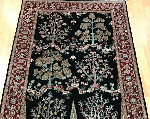 4' x 6' Sino Chinese Oriental Rug - Wool & Silk - Hand Made