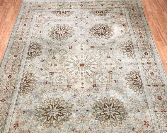 "6'1"" x 9'1"" Pakistani Persian Design Oriental Rug - Hand Made - 100% Wool"