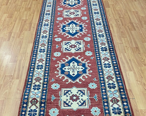 "2'7"" x 14'2"" New Pakistani Kazak Floor Runner Oriental Rug - Hand Made - 100% Wool"