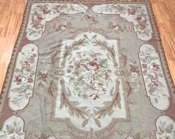 "5'4"" x 8'7"" Chinese Needle Point Oriental Rug - Hand Made - 100% Wool"