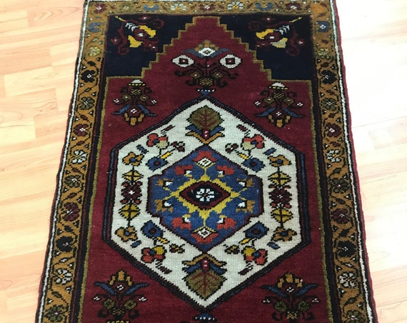 "2' x 3'6"" Turkish Kazak Oriental Rug - Full Pile - Hand Made - 100% Wool - Vegetable Dye"
