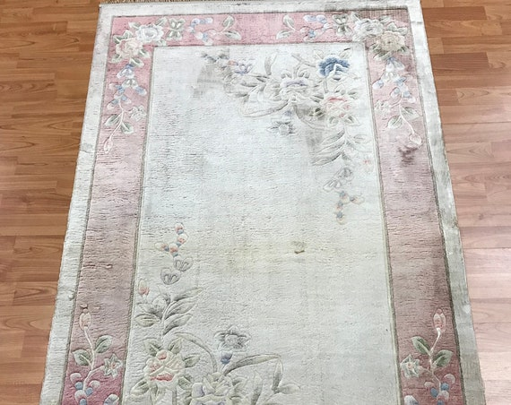 3' x 5' Chinese Art Deco Oriental Rug - Full Pile - Hand Made - 100% Silk