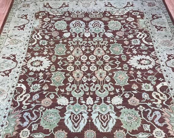 "8'8"" x 11'3"" Pakistani Sumak Flat Weave Oriental Rug - Hand Made - 100% Wool"