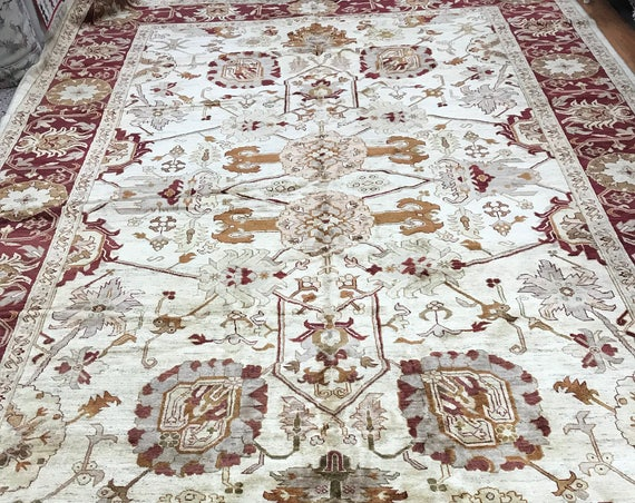 "10'2"" x 15'5"" Pakistani Peshawar Oriental Rug - Hand Made - 100% Wool - Vegetable Dye"