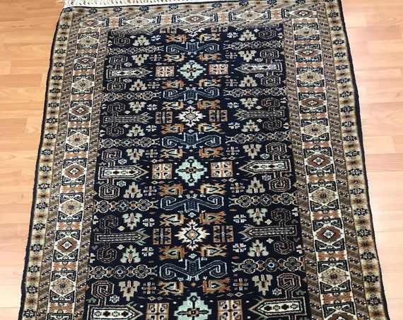 3' x 5' Pakistani Kazak Oriental Rug - Full Pile - Hand Made - 100% Wool