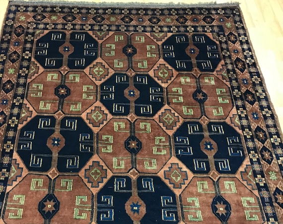 "5'8"" x 7' Pakistani Kazak Oriental Rug - Hand Made - 100% Wool - Vegetable Dye"