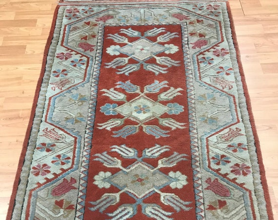"2'9"" x 4'6"" Pakistani Kazak Oriental Rug - 1950s - Hand Made - 100% Wool"