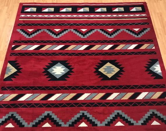 "5'6"" x 7'6"" American Kazak Oriental Rug - 100% Wool - Made in USA"
