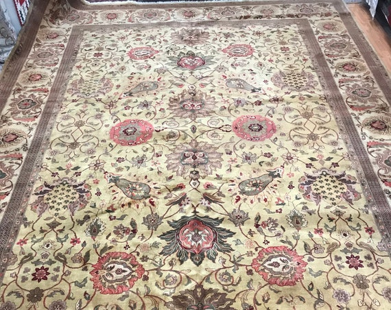"10'2"" x 15'2"" Indian Jaipur Oriental Rug - Hand Made - 100% Wool"