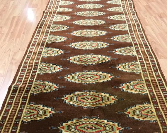 "2'8"" x 7'8"" Pakistani Bokhara Oriental Rug - Full Pile - Hand Made 100% Wool"
