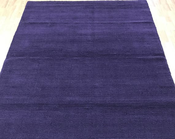 "5'6"" x 8'6"" New Nepal Oriental Rug - Purple - Modern - Hand Made - 100% Wool"