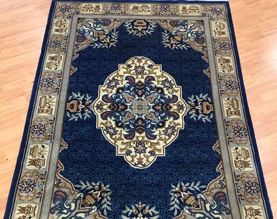 4' x 6' Chinese Aubusson Oriental Rug - Very Fine - Hand Made - 100% Wool
