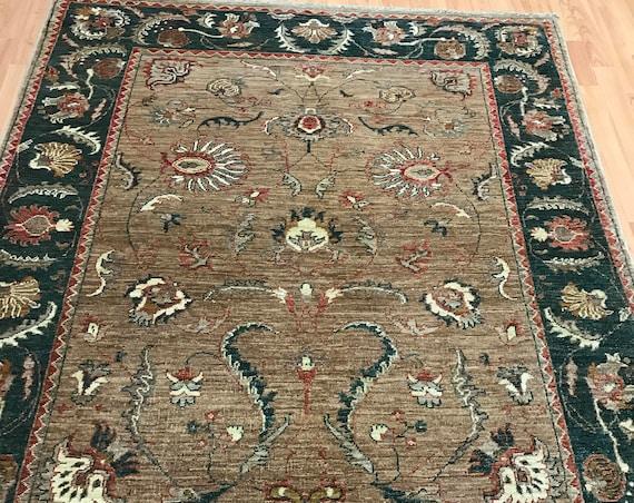 "5' x 6'1"" Pakistani Peshawar Oriental Rug - Hand Made - 100% Wool - Veg Dye"