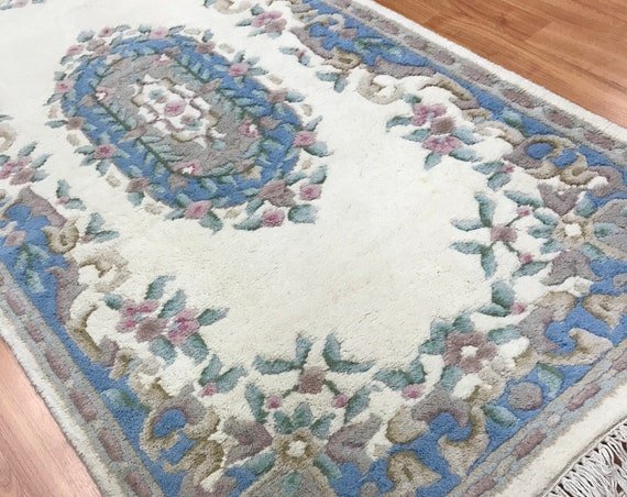 "2'7"" x 8' Chinese Aubusson Oriental Rug Floor Runner - Hand Made - 100% Wool"
