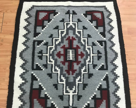"2'9"" x 3'6"" Native American Navajo Flat Weave Oriental Rug - Kilim - Hand Made"