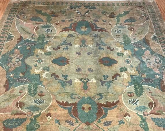 8' x 10' Nepal Art Deco Oriental Rug - Full Pile - Hand Made - 100% Wool