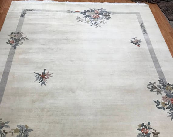 "8'6"" x 11'6"" Chinese Art Deco Oriental Rug - Full Pile - Hand Made - 100% Wool"
