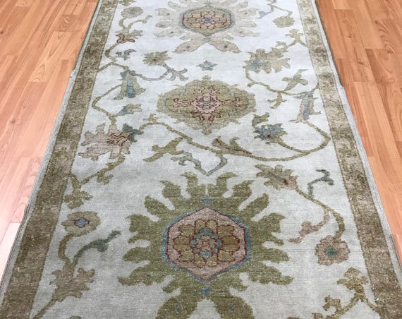 "2'6"" x 15'2"" Egyptian Agra Oriental Rug Floor Runner - Hand Made - 100% Wool"