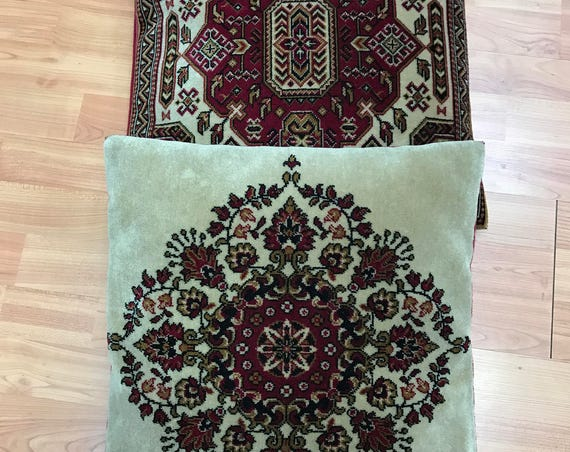 "Two Turkish Pillows - Square - 17"" x 17"" - Two Sided - 4 Designs"