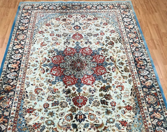 5' x 8' Sino Chinese Isfahan Oriental Rug - 500 KPSI - Very Fine - Hand Made - Wool and Silk