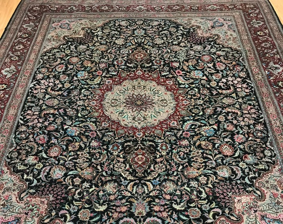 "8'6"" x 10'4"" Sino Chinese Oriental Rug - 200 Line - Hand Made - Wool and Silk Pile"