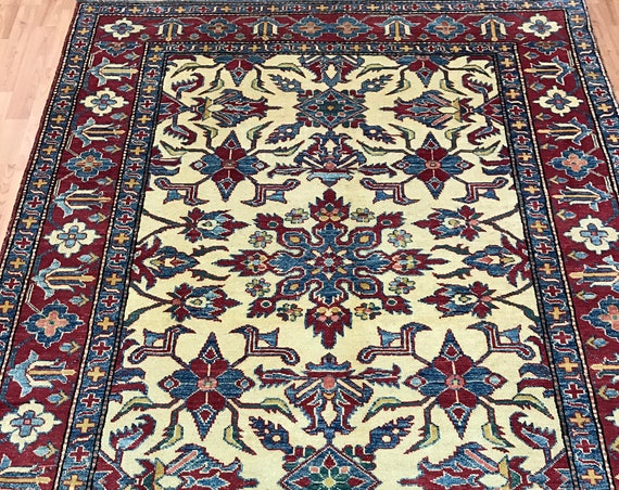 5' x 7' Pakistani Kazak Oriental Rug - Hand Made - 100% Wool - Vegetable Dye