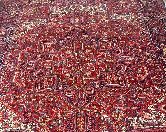 "10'3"" x 12'6"" Antique Azerbaijani Oriental Rug - 1930s - Hand Made - 100% Wool"