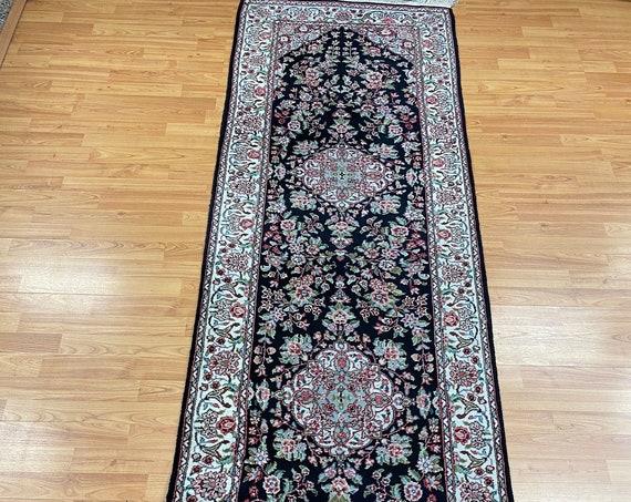 """2'7"""" x 8'3"""" Sino Chinese Oriental Rug Floor Runner - Hand Made - Wool & Silk"""