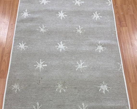 "2'3"" x 10'1"" Indian Nepal Floor Runner Oriental Rug - Hand Made - Wool with Silk"