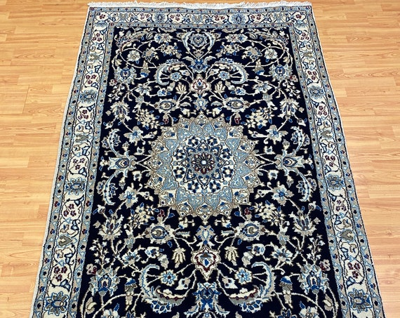 4' x 7' Turkish Oriental Rug - Full Pile - Wool and Silk - Hand Made