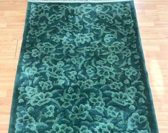 3' x 5' Chinese Art Deco Oriental Rug - Full Pile - Hand Made - 100% Wool