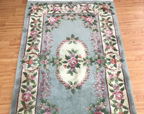 3' x 5' Chinese Aubusson Oriental Rug - Full Pile - Hand Made - 100% Wool