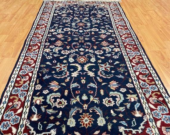 "2'6"" x 6' Indian Ka Shan Oriental Rug Runner - Full Pile - Hand Made - 100% Wool"