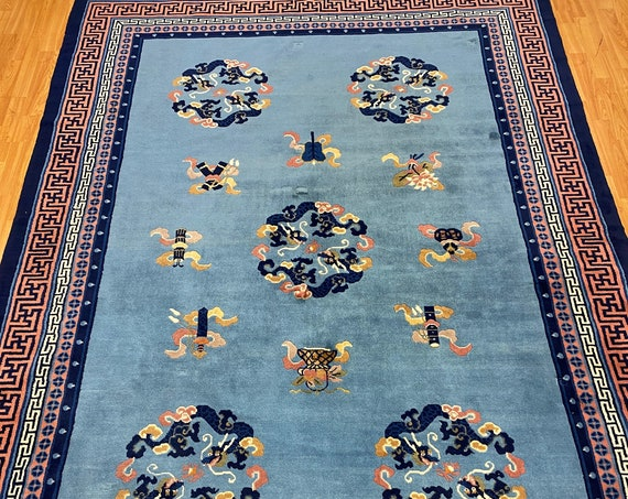 7' x 10' Chinese Aubusson Oriental Rug - Full Pile - Hand Made - 100% Wool