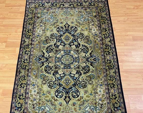 3' x 5' Pakistani Tabriz Oriental Rug - 300 KPSI - Very Fine - Hand Made - 100% Wool