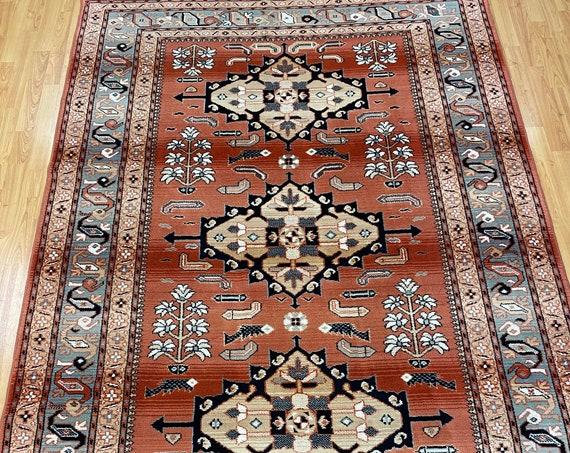 """5'5"""" x 7'10"""" Turkish Kazak Oriental Rug - Full Pile - Hand Made - 100% Wool"""