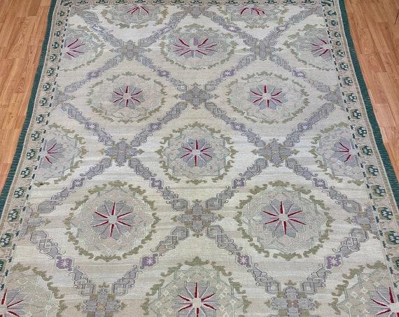 6' x 9' Chinese Sumak Flat Weave Oriental Rug - Hand Made - 100% Wool
