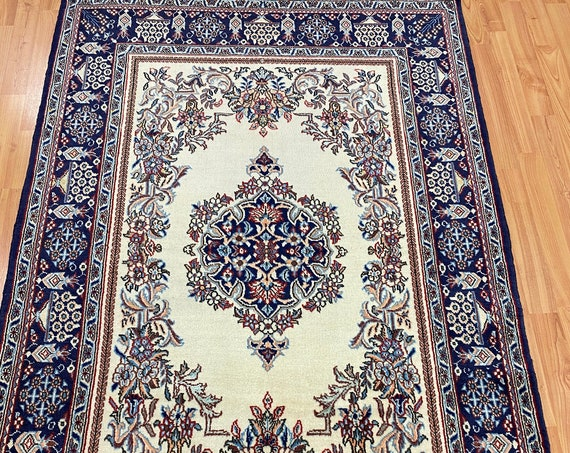 """3'7"""" x 5'4"""" Traditional Turkish Oriental Rug - Full Pile - 100% Wool - Hand Made"""