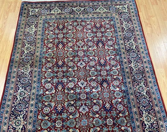 4' x 6' New Indian Herati Fish Design Oriental Rug - Hand Made - 100% Wool