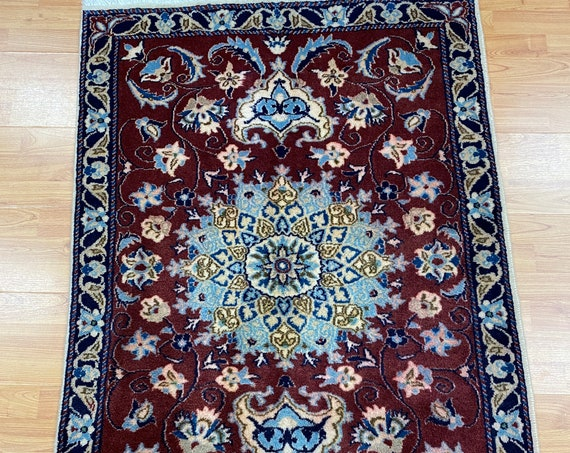 "3' x 4'1"" Turkish Oriental Rug - Full Pile - Wool and Silk - Hand Made"