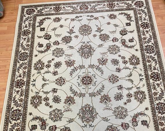 "5'4"" x 7'7"" Italian Kashan Design Oriental Rug - Full Pile"